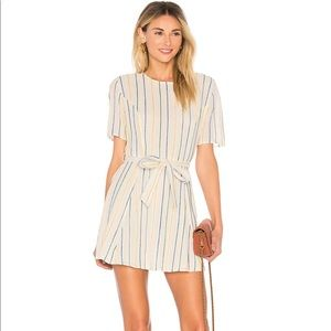 NWT TULAROSA revolve mini striped dress